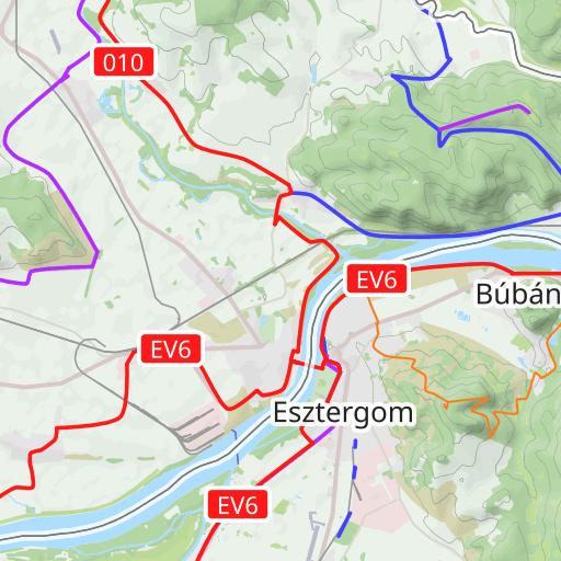 esztergom térkép utcakereső Esztergom kerékpárút térkép
